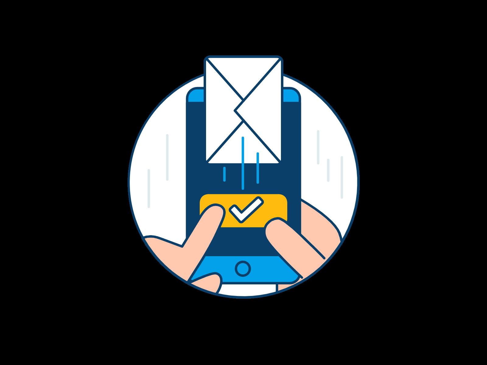 Darstellung des Mail-Versandes